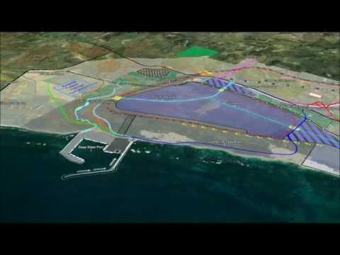 LandCorp   Oakajee Industrial Estate Structure Plan Flythrough