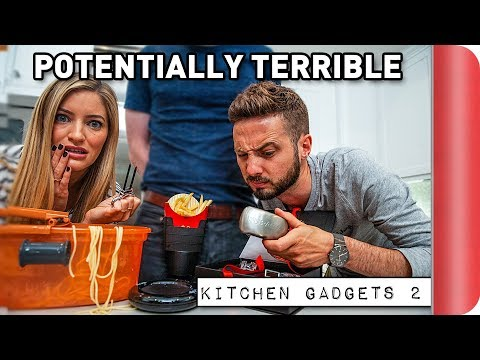 Reviewing Potentially TERRIBLE Kitchen Gadgets Ft. iJustine
