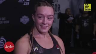 UFC 229: Aspen Ladd Explains