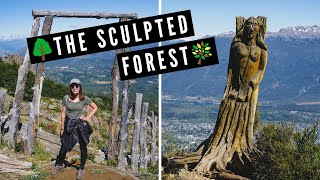 THE SCULPTED FOREST of Patagonia, Argentina ? | Where Burnt Trees Were Turned to Art in El Bolson