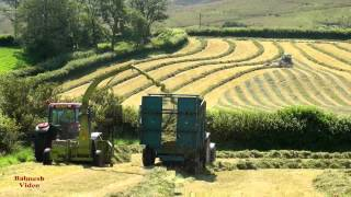 Hill Farm Silaging - in the Black Mountains.