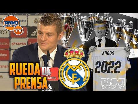 Rueda de prensa Toni Kroos renovación Real Madrid hasta 2022 (13/10/2016)