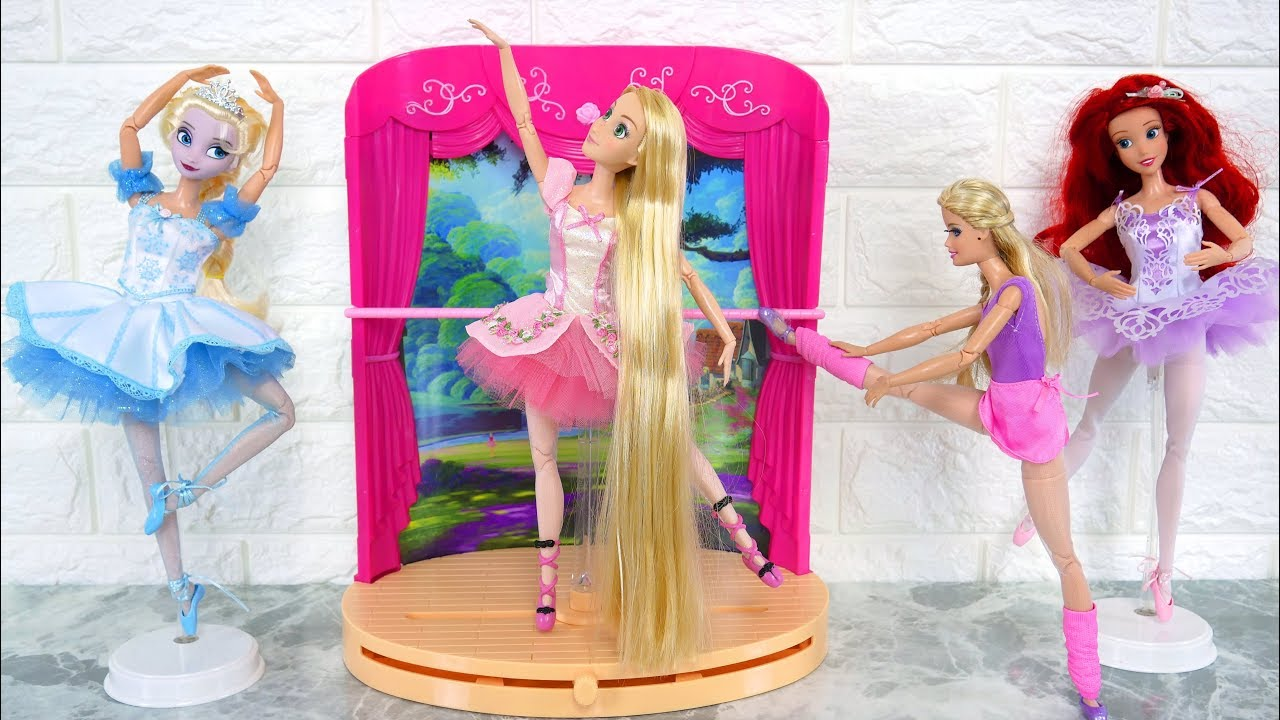 Ballerina Barbie In Pink Shoes Ballet Studio Stage Balet Putri Boneka Barbie Bailarina Boneca