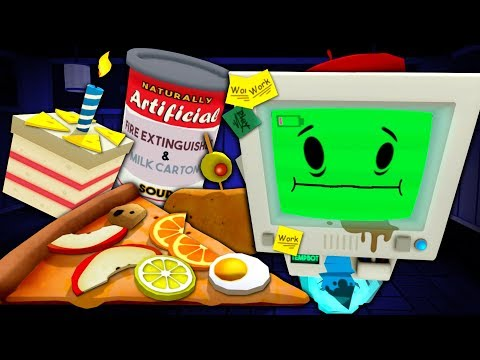 CURSED FOODS from the WORST EMPLOYEE - Job Simulator (VR)