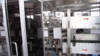 Линия для упаковки сыпучих продуктов в картонные коробки ZH100(Линия использует горячий клей для склеивания клапанов коробки., 2014-07-09T07:45:58.000Z)