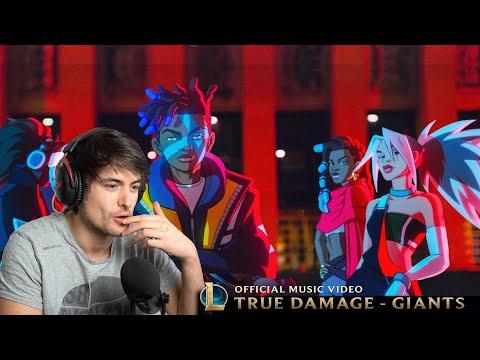 True Damage - GIANTS (ft. Becky G, Keke Palmer, SOYEON, DUCKWRTH)   League of Legends - REACTION