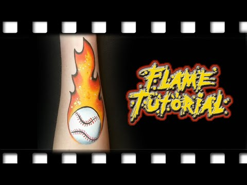 Flame Face Painting Tutorial