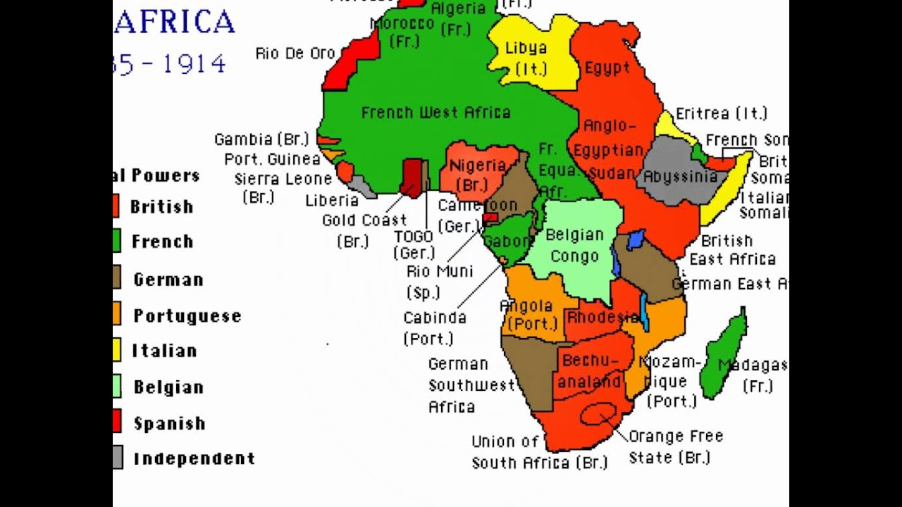 Scramble For Africa Map Worksheet The European Colonization Of Africa Happened Late In World