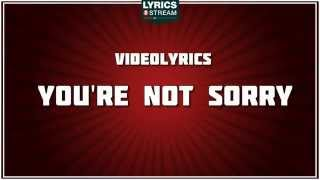 Gambar cover You're Not Sorry - Taylor Swift tribute - Lyrics