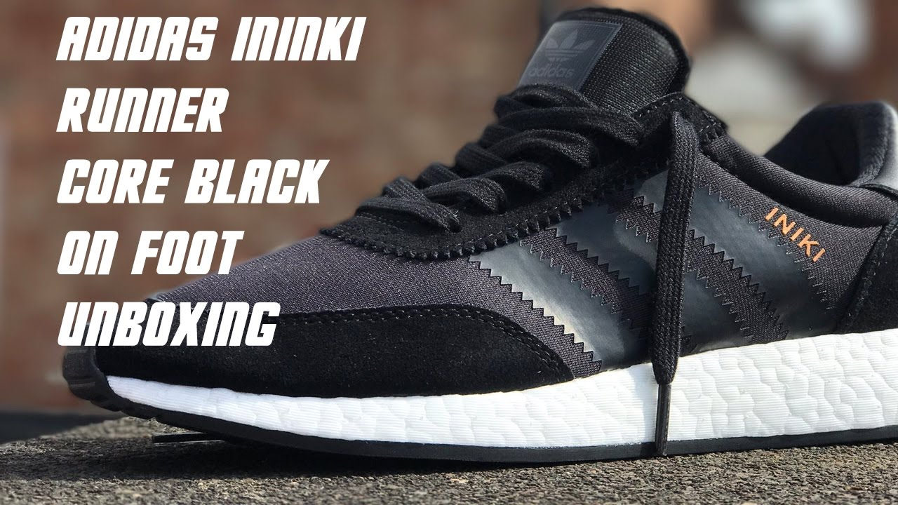 best service 8ccb8 63f59 Adidas Iniki Runner Core Black   Unboxing   On feet