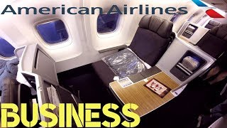 American Airlines BUSINESS CLASS Chicago to London|Boeing 767-300ER
