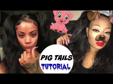 TWO PIGTAILS WITH WEAVE AND BAHAIR TUTORIAL