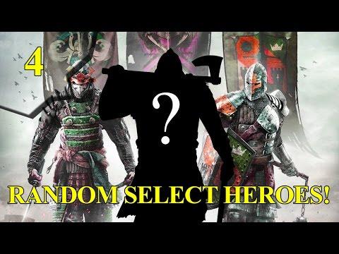 For Honor - RANDOM SELECT vs Warden! - THAT VORTEX! pt4
