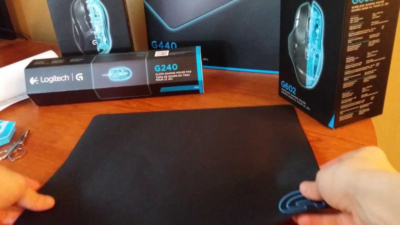 Logitech G240 Gaming Mouse Pad Cloth 4k Unboxing - YouTube