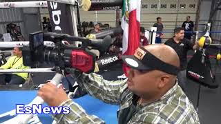 Mikey Garcia In Camp Can You Guess Who He's Fighting? EsNews Boxing