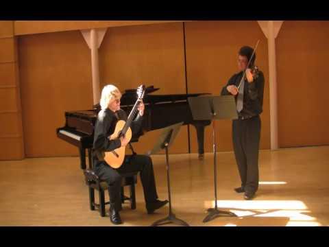 M.Giuliani (guitar & violin) 'Pieces faciles' op. 74 no. 2 M.Pasieczny & I.Watson Duo