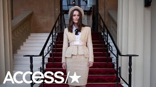 Keira Knightley Looks Dapper As She's Honored With OBE At Buckingham Palace | Access