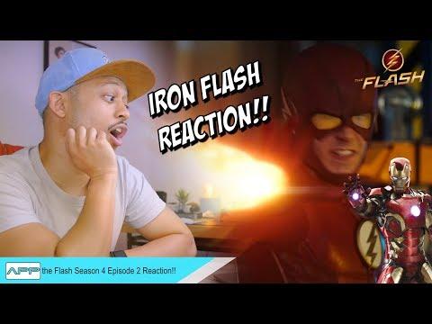 The Flash 4x02 Barry Allen Iron MAN Flash vs Kilgore REACTION!!
