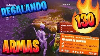 GIFTING WEAPONS 130/106 RAYO AND FORTNITE TRAPS SAVE THE WORLD