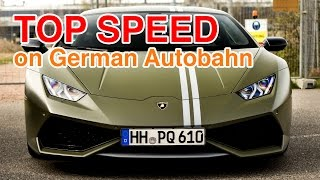 TOP SPEED of the Lamborghini Huracán