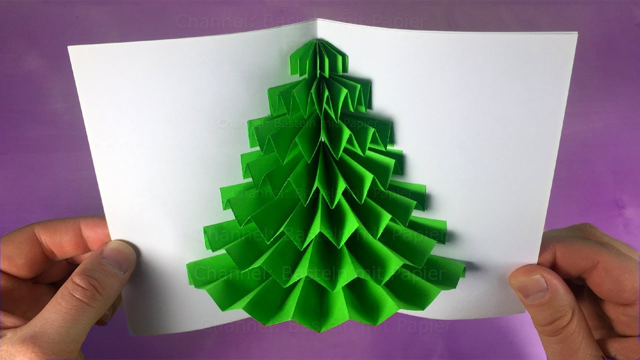 3d Weihnachtskarte Pop Up Card For Christmas Christmas Tree Cute Diy Christmas Gift