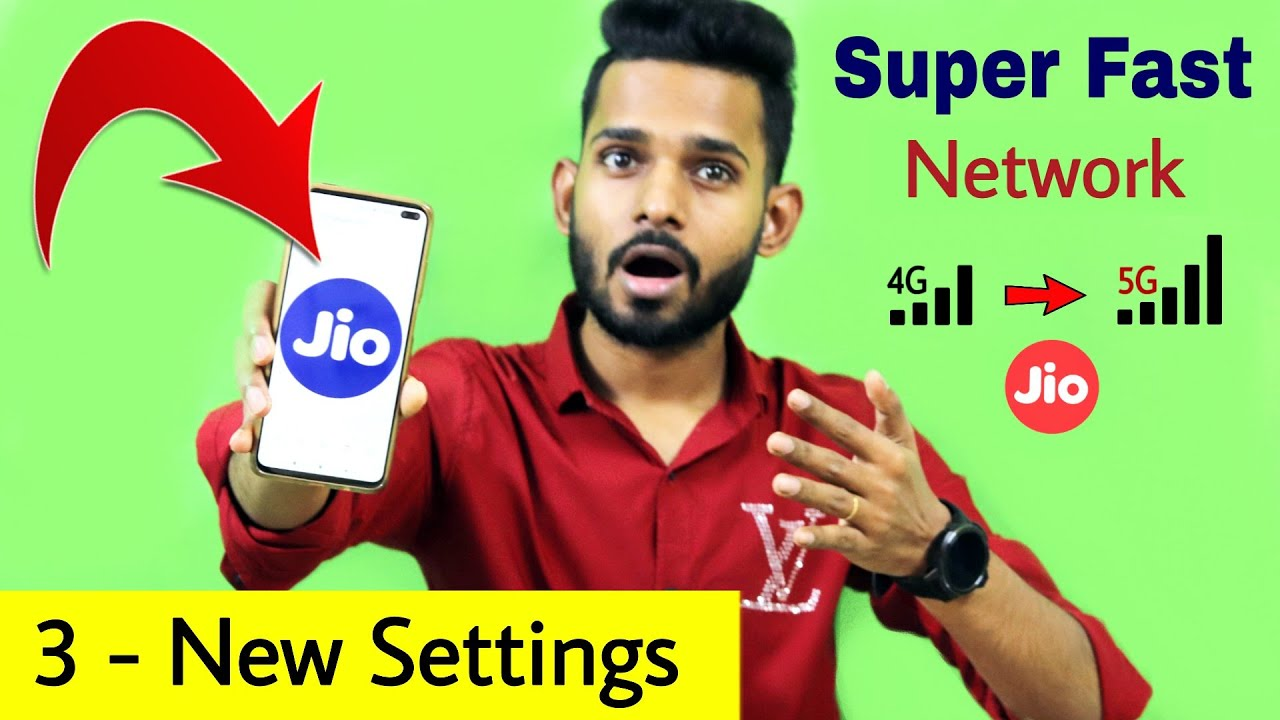 2021 Top 3 New Settings for Jio Users | Super Fast Network