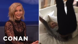 Jennifer Lawrence Was So Psyched To Sleep She Dislocated Her Toe  - CONAN on TBS