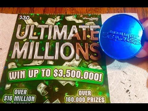 $30 Ultimate Millions scratcher *My BIGGEST scratch ticket win ever!*