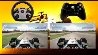 F1 2014 Wheel vs Controller Comparison