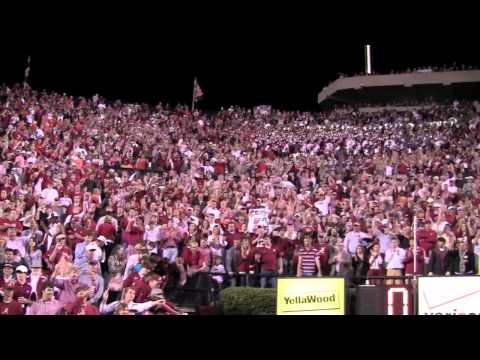 Alabama fans sing Rammer Jammer after the 2011 Iron Bowl