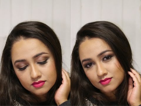 Neutral Eyes And Magenta Lips | Dior Eye Reviver Palette |  Fashionglamtage