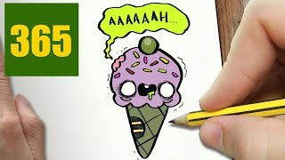 HOW TO DRAW A ZOMBIE ICE CREAM CUTE, Easy step by step drawing lessons for kids