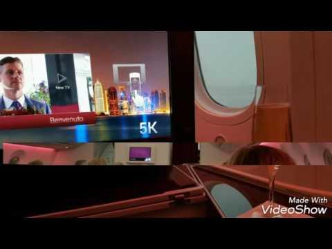 Qatar Airways business class dreamliner Oslo - Doha - Dubai
