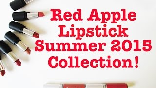Red Apple Lipstick Summer 2015 Collection and Sale! (Vegan, Cruelty Free, Natural Makeup!)