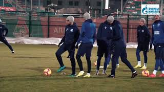 Предыгровая тренировка ФК Оренбург перед матчем против ФК Локомотив