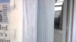 Painting A Corner Glass Cabinet In White Chalk Paint & Varnishing Durable Finish