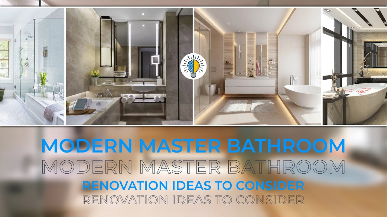 Modern Master Bathroom Renovation Ideas To Consider Youtube
