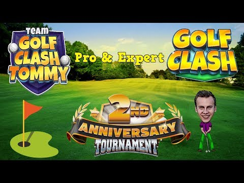 Golf Clash tips, Playthrough, Hole 1-9 - PRO & EXPERT - 2nd Anniversary Tournament!