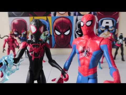 Spiderman y Miles Morales Un Nuevo Universo Juguetes #marvel