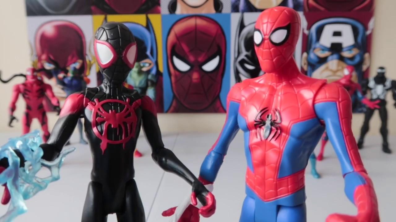 Spiderman y Miles Morales Un Nuevo Universo Juguetes #marvel |  #kidsplacetown