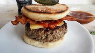Dinner Recipe: Guinness Burger with Irish Cheddar and Bacon by Everyday Gourmet with Blakely