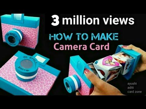 Unique Instax Card Tutorial | DIY scrapbook | DIY Camera Card | Friendship Day Gift |