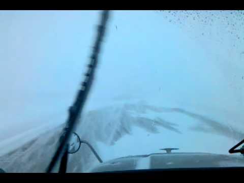 Ice road trucking in North Dakota