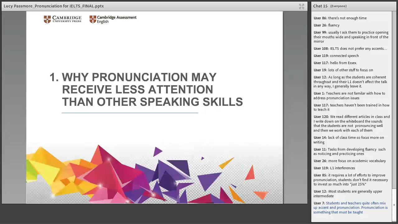 Helping students improve their pronunciation for the IELTS Speaking test