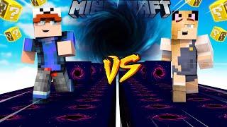 SZALONY WYŚCIG! - CZARNA DZIURA LUCKY BLOCKI MINECRAFT! (Lucky Block Race) | Vito vs Bella