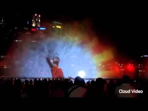 """水幕電影 """"Wonder Full"""" Part 1 (Singapore Marina Bay Sands)"""