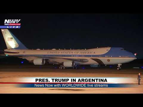 WHAT A LANDING!: Pres. Trump, First Lady G20 Arrival in Buenos Aires, Argentina (FNN)