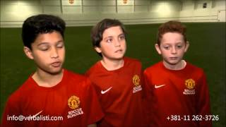 Manchester United Soccer Schools World Skills Final 2014, Verbalisti