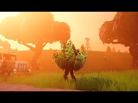 Playing As A Bush New Update Fortnite Battle Royale Youtube