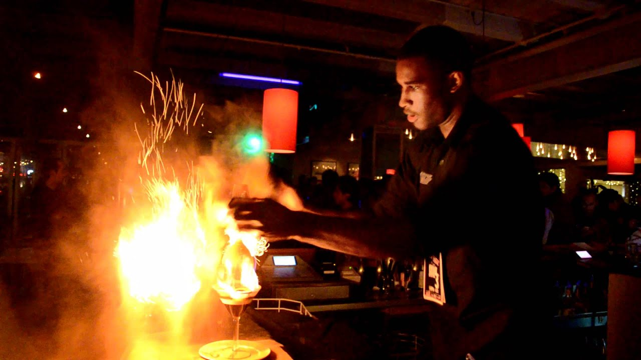 Bartender Performs Fire Tricks In Auckland Nightclub May